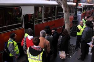 Micros escolares pasajeros varados paro de subtes parabuenosaires.com