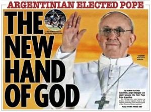 PAPA JORGE BERGOGLIO THE NEW HAND OF GOD DAILY MIRROR parabuenosaires.com