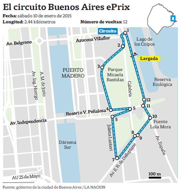 Circuito Kdt Buenos Aires : Cómo es la fórmula e que correrá en puerto madero