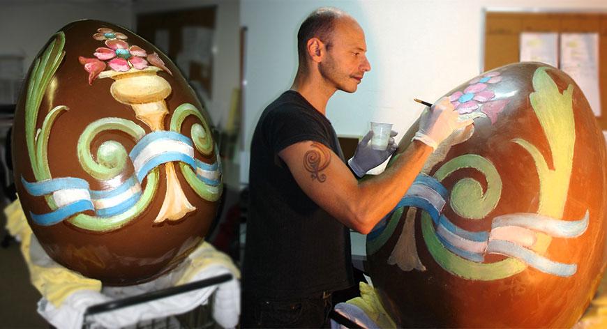 Alfredo Genovese huevo de chocolate