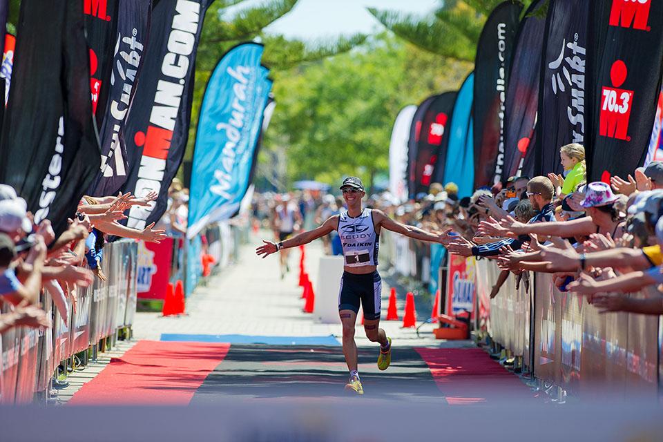 Sun Smart Ironman 70.3 Triathlon Mandurah 2012, Western Australia.