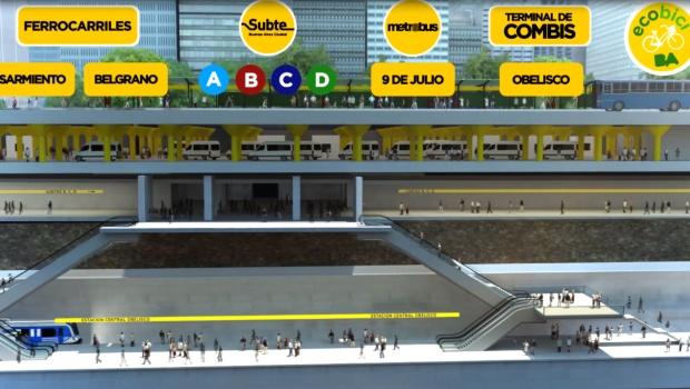 Resultado de imagen para estación central de trenes bajo el Obelisco