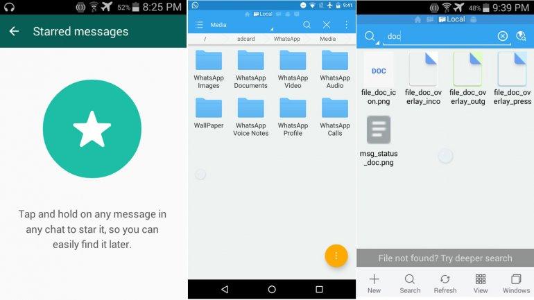 La versión beta de WhatsApp para Android, que se descarga de la página de  la aplicación de mensajería, incluye dos notorias novedades: la posibilidad  de ...