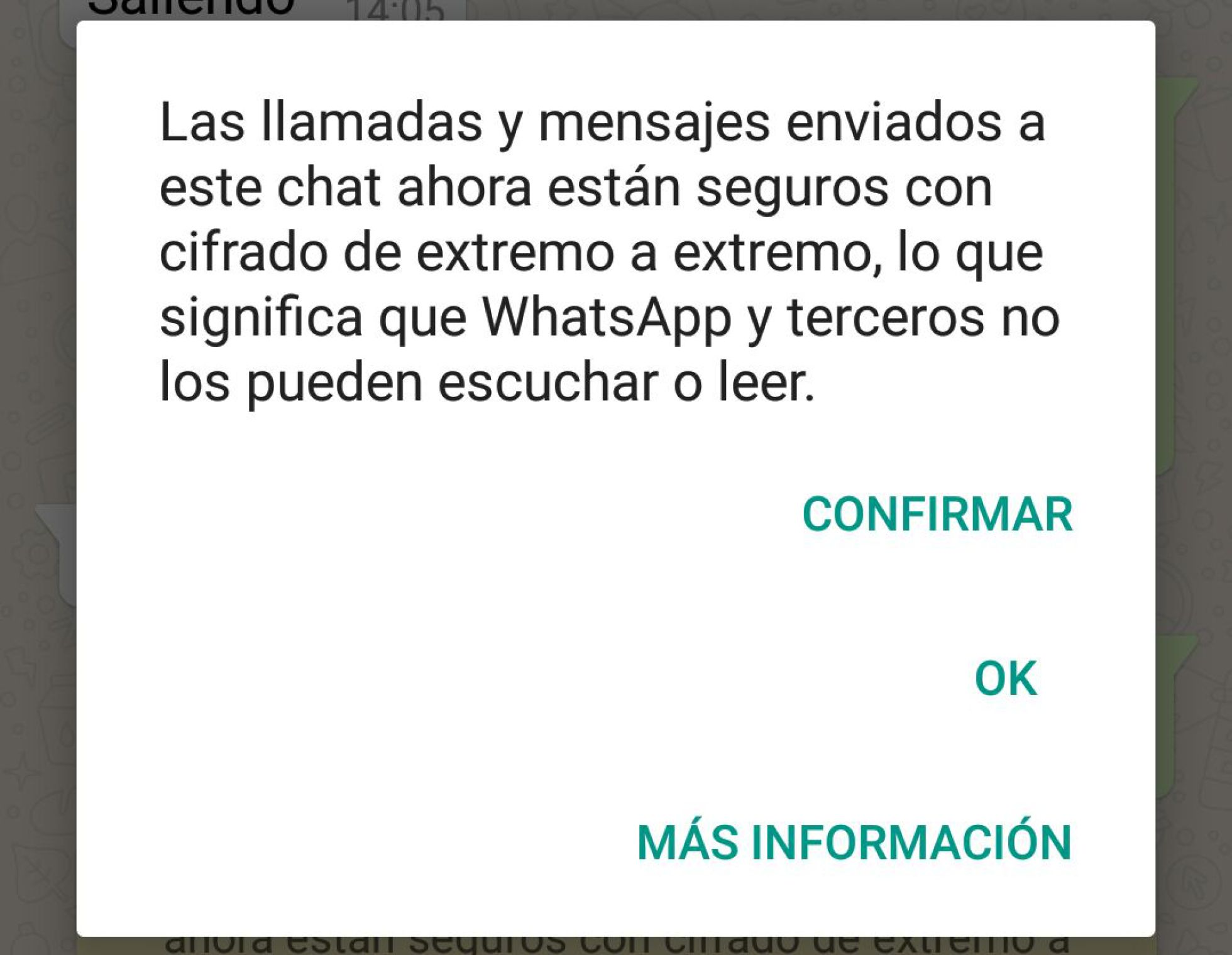 WhatsApp cifrado