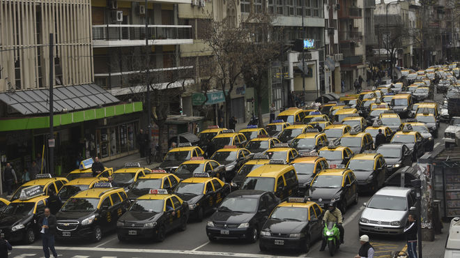 taxistas protesta