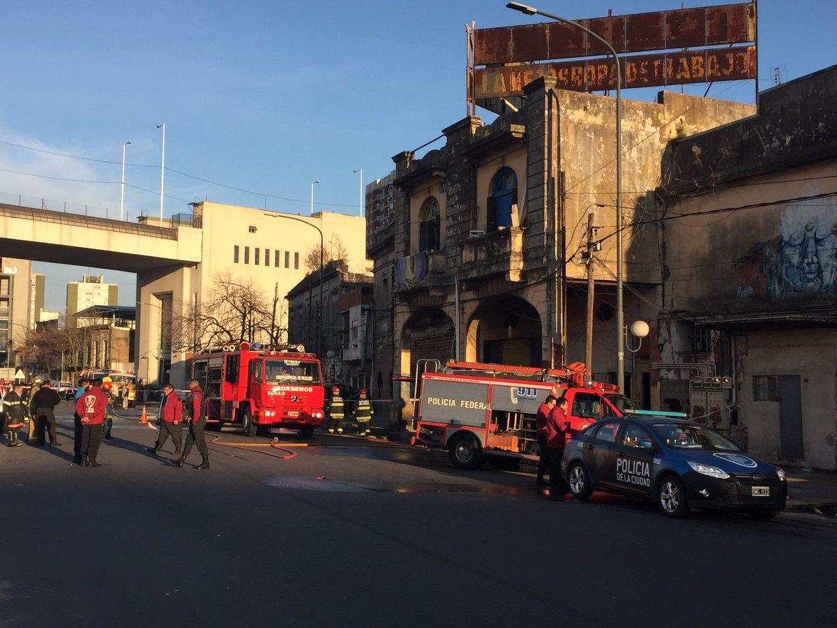 Incendio en un conventillo, sospechan de un inquilino